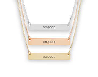 Delta Gamma Motto Bar Necklace