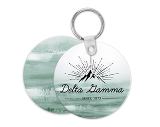 Delta Gamma Mountain Key Chain