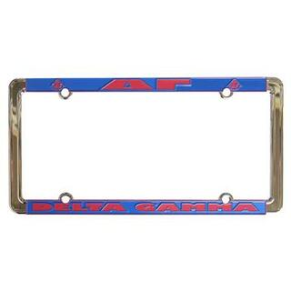 Delta Gamma New Design License Plate Frame