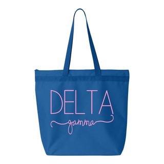 Delta Gamma New Handwriting Tote Bag