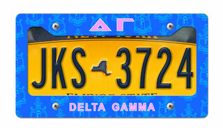 Delta Gamma New License Plate Frame