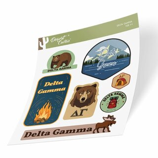 Delta Gamma Outdoor Sticker Sheet