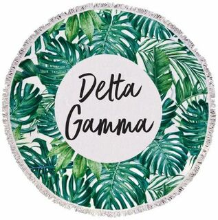 Delta Gamma Palm Leaf Fringe Towel Blanket