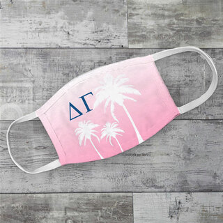 Delta Gamma Palm Trees Face Mask