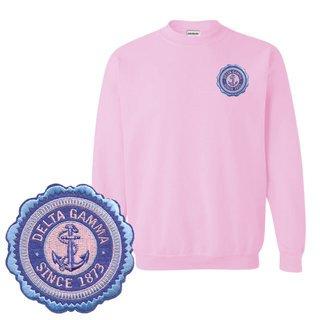 Delta Gamma Patch Seal Sweatshirt