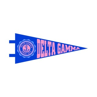 """Delta Gamma Pennant Decal 4"""" Wide"""