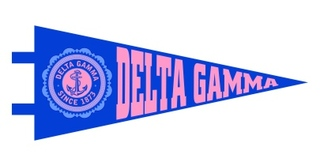 Delta Gamma Pennant Decal Sticker