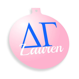 Delta Gamma Personalized Christmas Ornaments