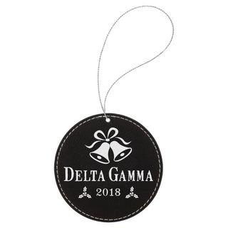 Delta Gamma Leatherette Holiday Ornament