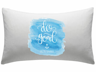 Delta Gamma Motto Watercolor Pillowcase