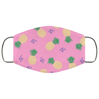 Delta Gamma Pineapples Face Mask