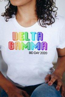 Delta Gamma Pixel Tee - Comfort Colors