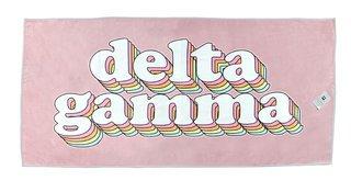 Delta Gamma Plush Retro Beach Towel