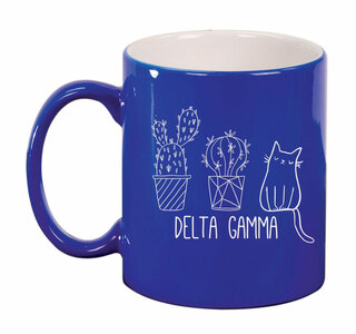 Delta Gamma Purrrfect Sorority Coffee Mug