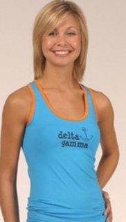 Delta Gamma Racer Back Mascot Tank Top