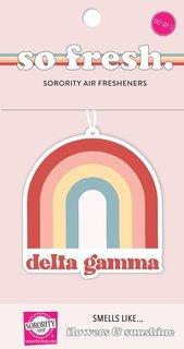 Delta Gamma Rainbow Retro Air Freshener - Flowers & Sunshine Scent