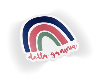 Delta Gamma Rainbow Sticker