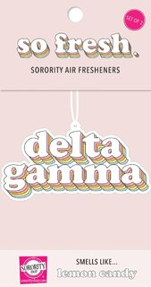 Delta Gamma Retro Air Freshener (2 pack)