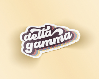 Delta Gamma Retro Sticker