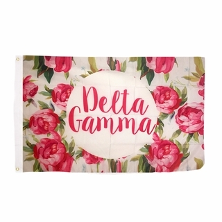 Delta Gamma Rose Flag