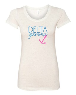 Delta Gamma Script Anchor Triblend Short Sleeve T-Shirt