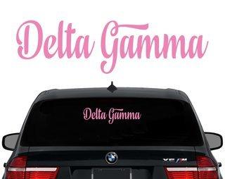 Delta Gamma Script Decal