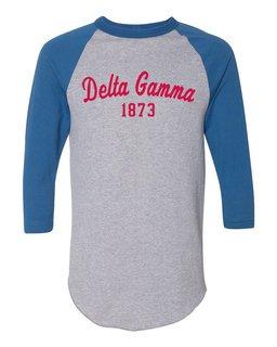 Delta Gamma Script Established Raglan