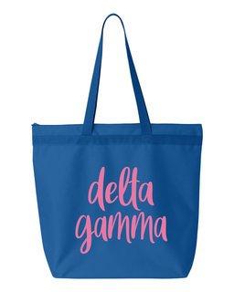 Delta Gamma Script Tote Bag