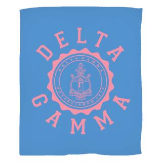 Delta Gamma Seal Fleece Blanket