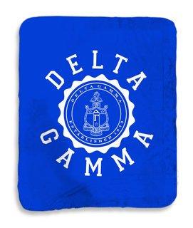 Delta Gamma Seal Sherpa Lap Blanket