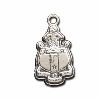 Delta Gamma Silver Crest - Shield Charm - CLOSEOUT
