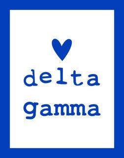 Delta Gamma Simple Heart Sticker