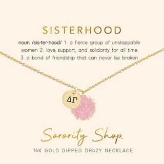 Delta Gamma Sisterhood Druzy Necklace