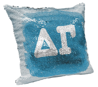 Delta Gamma Sorority Flip Sequin Throw Pillow Cover