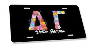 Delta Gamma Sorority Floral Greek License Cover