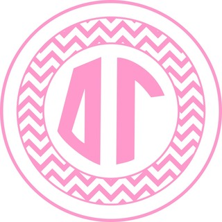 Delta Gamma Sorority Monogram Bumper Sticker