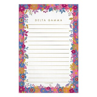 Delta Gamma Sorority New Floral Notepad