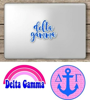 Delta Gamma Sorority Sticker Collection - SAVE!