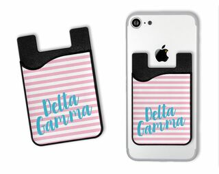 Delta Gamma Sorority Stripes Caddy Phone Wallet