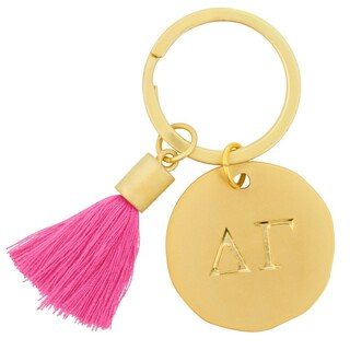 Delta Gamma Sorority Tassel Gold Key Chain