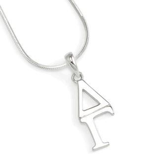 Delta Gamma Sterling Silver Lavaliere Pendant