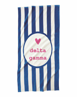 Delta Gamma Striped Beach Towel