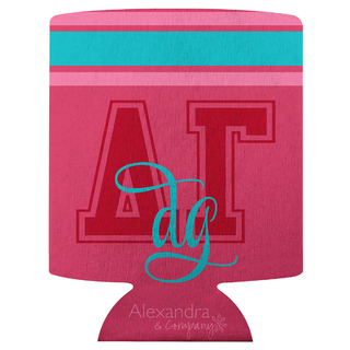 Delta Gamma Striped Can Cooler