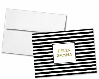 Delta Gamma Striped Notecards(6)