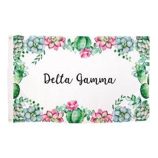 Delta Gamma Succulent Flag