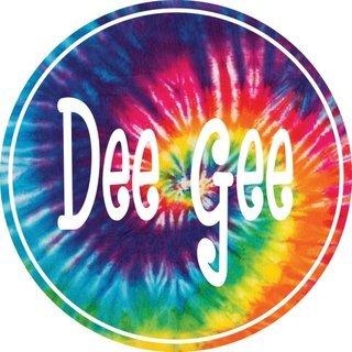 Delta Gamma Tie-Dye Circle Sticker