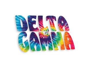 Delta Gamma Tie-Dye Stack Sticker