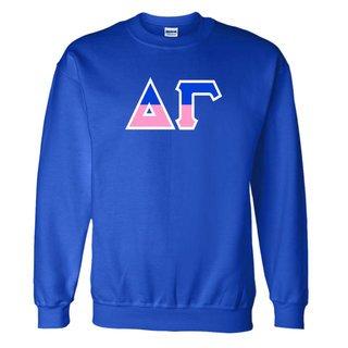 Delta Gamma Two Tone Greek Lettered Crewneck Sweatshirt