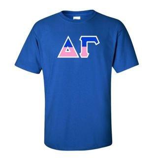 Delta Gamma Two Tone Greek Lettered T-Shirt