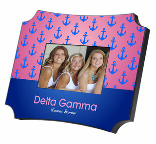 Delta Gamma Two Tone Mascot Picture Frame